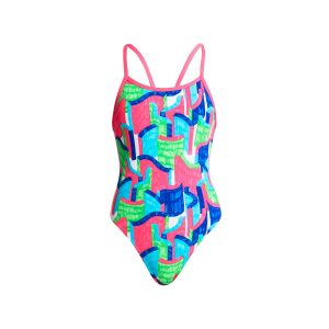 FUNKITA GIRLS SINGLE STRAP ONE PIECE – TEXTA TOWERS