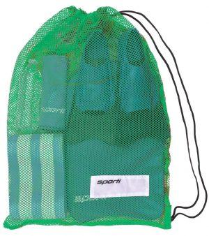 SPORTI MESH EQUIPMENT DRAWSTRING BAG – GREEN