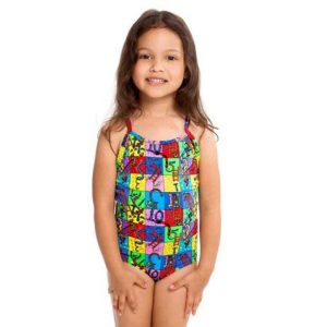 FUNKITA TODDLER GIRLS PRINTED ONE PIECE – SLIPPERY SNAKES