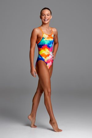 FUNKITA GIRLS DIAMOND BACK ONE PIECE – CUMULUS