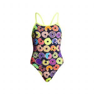 FUNKITA GIRLS SINGLE STRAP ONE PIECE – DUNKING DONUTS