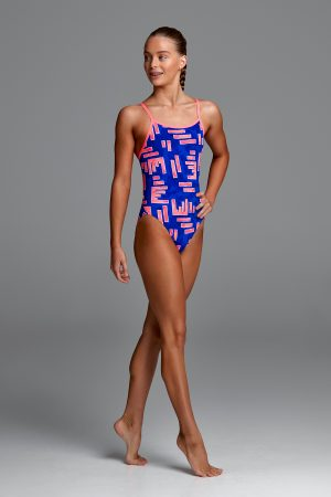 FUNKITA GIRLS SINGLE STRAP ONE PIECE – HOT ROD
