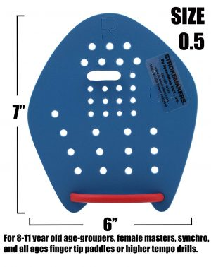 STROKEMAKERS HAND PADDLES XS #0.5 BLUE