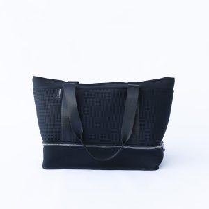 THE SUNDAY BAG (BLACK) NEOPRENE TOTE / BABY/ TRAVEL BAG