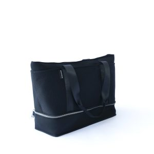 THE SUNDAY BAG (BLACK) NEOPRENE TOTE / BABY/ TRAVEL BAG