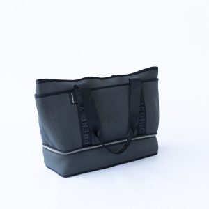 THE SUNDAY BAG (CHARCOAL) NEOPRENE TOTE / BABY/ TRAVEL BAG