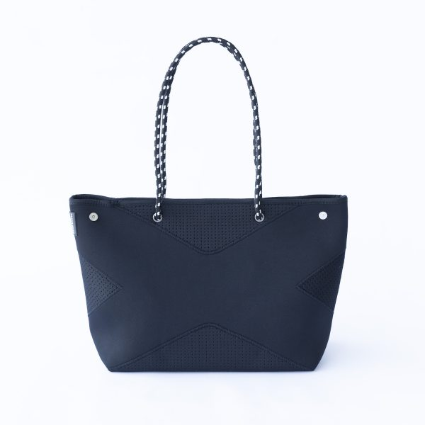 PRENE BAGS THE X BAG BLACK NEOPRENE TOTE BAG by Jesswim