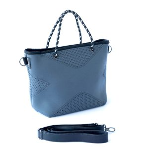 THE XS BAG (CHARCOAL) NEOPRENE CROSSBODY/HAND BAG