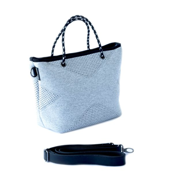 PRENE BAGS THE XS BAG LIGHT GREY MARLE NEOPRENE TOTE BAG by Jesswim