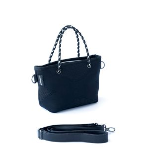 THE XXS BAG (BLACK) NEOPRENE CROSSBODY/HAND BAG