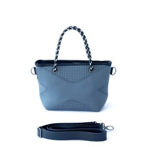 THE XXS BAG (CHARCOAL) NEOPRENE CROSSBODY/HAND BAG