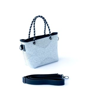 THE XXS BAG (LIGHT GREY MARLE) NEOPRENE CROSSBODY/HAND BAG