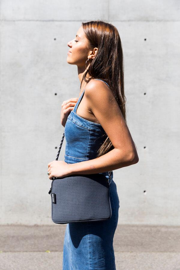 PRENE BAGS THE PIXIE BAG CHARCOAL by Jesswim