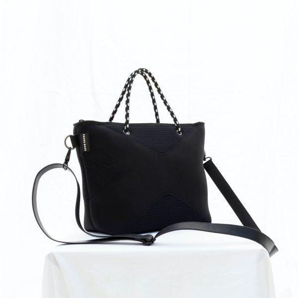 PRENE BAGS THE XS BAG BLACK NEOPRENE TOTE BAG by Jesswim