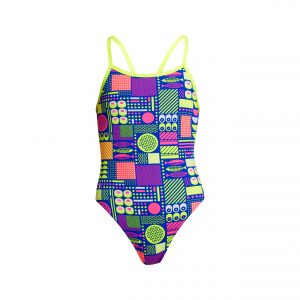 FUNKITA GIRLS SINGLE STRAP ONE PIECE – PACKED LUNCH